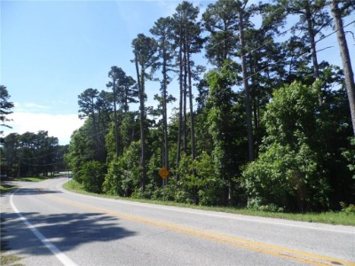 Picture of highway and trees of bank owned property